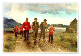 Premium poster  'Listed for the Connaught Rangers': Recruiting in Ireland, 1878 - Lady Butler