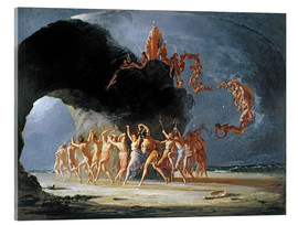 Acrylic print  Come under the yellow sand, 1842 - Richard Dadd