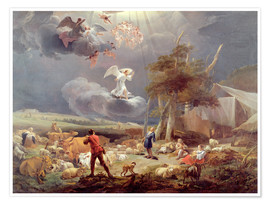 Premium poster The Annunciation to the Shepherds