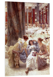 Foam board print  The Baths of Caracalla - Lawrence Alma-Tadema