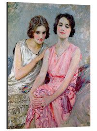 Aluminium print  Two Young Women Seated - William Henry Margetson