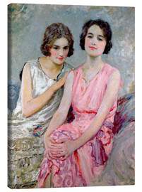 Canvas print  Two Young Women Seated - William Henry Margetson