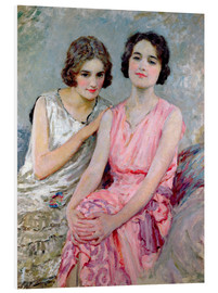 Foam board print  Two Young Women Seated - William Henry Margetson