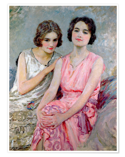 Poster Two Young Women Seated