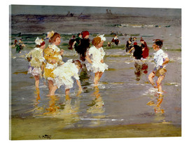 Acrylic glass  Children on the Beach - Edward Henry Potthast