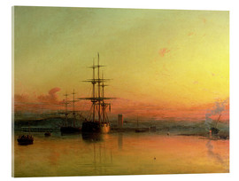 Acrylic print  Dead Calm - Sunset at the Bight of Exmouth - Francis Danby