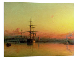 Forex  Dead Calm - Sunset at the Bight of Exmouth - Francis Danby
