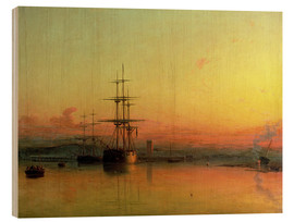 Wood  Dead Calm - Sunset at the Bight of Exmouth - Francis Danby