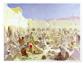 Premium poster The market place in Ghardaia