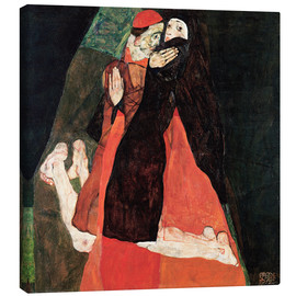 Canvas print  Cardinal and Nun - Egon Schiele