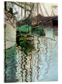 Acrylic print  The port at Trieste - Egon Schiele
