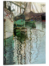 Aluminium print  The port at Trieste - Egon Schiele