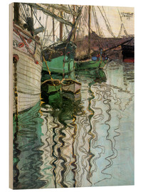 Wood  The port at Trieste - Egon Schiele