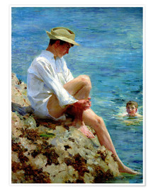 Premium poster  Boys Bathing - Henry Scott Tuke