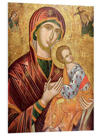 Foam board print  Mother and goddess of passion, Greek icon from Crete