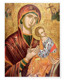 Premium poster  Mother and goddess of passion, Greek icon from Crete