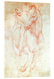 Acrylic glass  Study of a Horse and Rider - Leonardo da Vinci