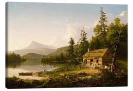 Canvas  Home in the Woods - Thomas Cole