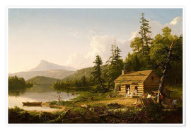 Premium poster  Home in the Woods - Thomas Cole