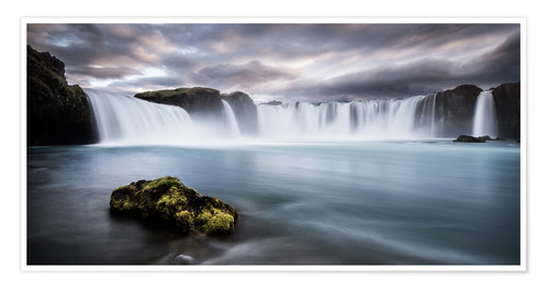 Premium poster Godafoss Waterfall in Iceland