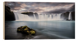 Wood print  Godafoss Waterfall in Iceland - Andreas Wonisch
