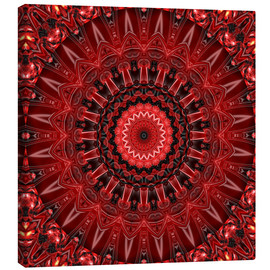 Canvas print  mandala red - Christine Bässler
