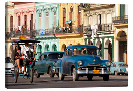 Canvas print  classic us cars in havanna, cuba - Peter Schickert