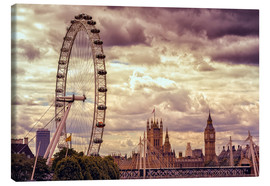 Canvas print  London Eye & Big Ben - Stefan Becker