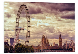 Foam board print  London Eye & Big Ben - Stefan Becker