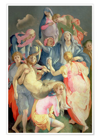 Premium poster  The decline of Christ, 1525-28 - Jacopo Pontormo