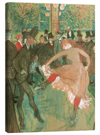 Canvas print  Dancing the Cancan - Henri de Toulouse-Lautrec