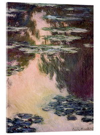 Acrylic glass  Waterlilies with Weeping Willows - Claude Monet