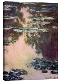 Canvas  Waterlilies with Weeping Willows - Claude Monet