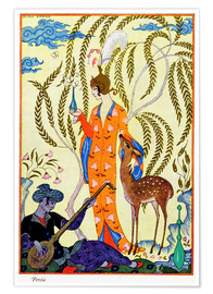 Poster  Persia, illustration from 'The Art of Perfume', pub. 1912 - Georges Barbier
