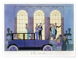 Premium poster  Farewell, engraved by Henri Reidel - Georges Barbier