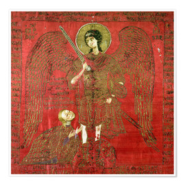 Premium poster Archangel Michael with Manuel II Palaeologus