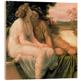 Wood print  Acme & Septimius - Frederic Leighton