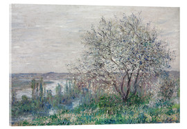 Acrylic print  Spring mood in Vetheuil - Claude Monet