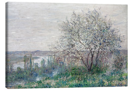 Canvas print  Spring mood in Vetheuil - Claude Monet