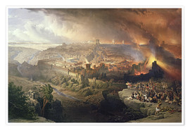 Premium poster The destruction of Jerusalem, 70 AD.