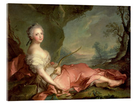Acrylic print  Maria Adelaide of France as Diana - Jean-Marc Nattier