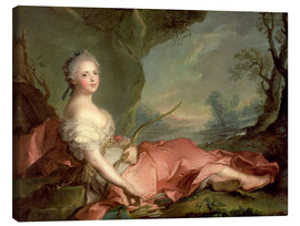 Canvas  Maria Adelaide of France as Diana - Jean-Marc Nattier