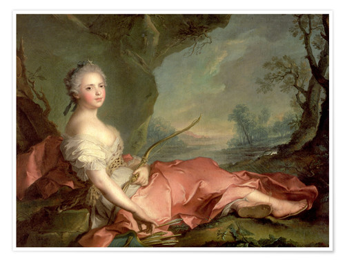 Premium poster Maria Adelaide of France as Diana