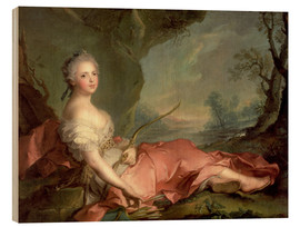 Wood print  Maria Adelaide of France as Diana - Jean-Marc Nattier