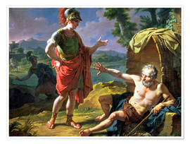 Premium poster Alexander and Diogenes, 1818