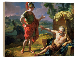 Wood print  Alexander and Diogenes, 1818 - Nicolas Andre Monsiau