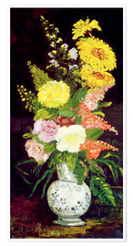 Premium poster Vase with Flowers