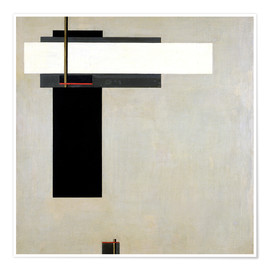 Premium poster  Composition Proun GBA 4 - El Lissitzky