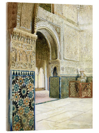 Acrylic print  Interior of the Alhambra, Granada - French School