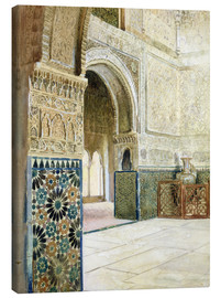 Canvas print  Interior of the Alhambra, Granada - French School